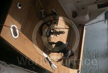 Coaming Board and Teak Decking Installation / Coaming Boards, Teak decking Installation and Repair. Yacht decking and Yacht Carpentry.