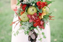 COLOUR INSPIRATION - RED AND WHITE FARM WEDDING