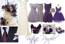 Colour schemes - Purple / Inspiration board for purple weddings