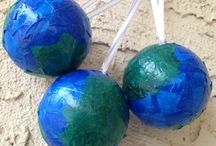 Earth ornaments / DIY earth/globe ornaments for Jesse Tree project
