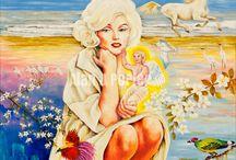 Marilyn Monroe / Oil paintings of Marilyn Monroe #alanjporterart #kompas #art #marilyn #painting #oil #beauty #monroe #woman