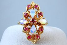 Opalicious October / A selection of antique and vintage opal jewels
