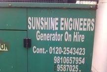 Generator on hire in noida