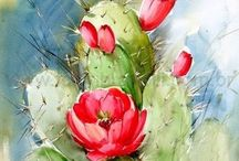 Water color cactus
