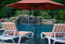 Waterfalls in Swimming Pools / Beautiful custom waterfalls and water features in your swimming pool add aesthetic and calming features to each design