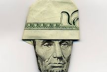 {design} Moneygami / Origami using money. (In the near future, this may be all that paper money will be good for.)