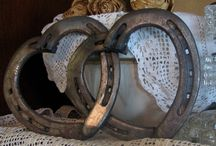 Crafty ~ With Horseshoes & Tack / Altered Horseshoe Ideas / by Laura Hayden