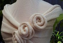 Knitting patterns / Summer rose wrap