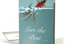 Gone Fishin' / Hook, line & sinker - Bait, bobbing, fly fishing, deep sea ... fun foods, décor, gifts and greeting card ideas for fisherman or fisherwoman.