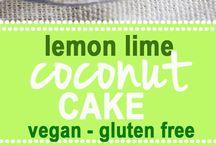 Lemon lime coconut cake gfree