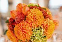 arranjos flores e fruta