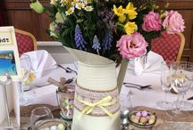 Spring Wedding Flowers / flora inspiration for a spring and Easter themed wedding