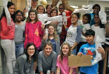"""Conway Middle School Tape Project / Brendan O'Connor, Artist in Residence for ArtReach Orlando introduced the kids at Conway Middle School to """"Street Art"""" and did a project with tape making very cool sculptures."""