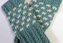 Knit and crochet mittens