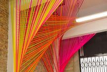 + Vorhang / Fadenvorhang, string curtain, Chiffon Vorhang