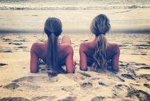 Friends at beach