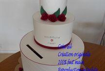 Urne mariage wedding cake / Urne de mariage thème un gateau de mariage