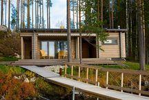 Exteriors. Modern wood houses / Современные дома