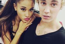 Ariana Grande and Justin Bieber ♥