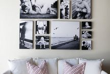 Photo Displays / Creative ideas for photo displays for the home or office