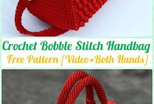 crochet handbag bubble stitch