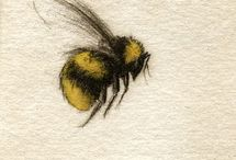 Bee Art / Beautiful, cute, whimsical, varied artistic renditions of bees in all their glory.