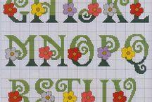 Alfabeto con fiorellino