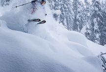 Powder skiing and boarding / Powder skiing and boarding