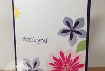 Thank You Cards / handmade thank you gifts made by Lisa Ann Bernard of Queen B Creations, Independent Stampin' Up! demonstrator