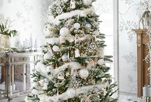 Dreaming Of A White Christmas / Set the picture perfect scene for a white Christmas wonderland this year with this collection of products and inspirational images. Discover frosted wreaths and garlands, sparkling baubles and themed Christmas trees
