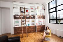 Study, bookcases, shelving, nooks