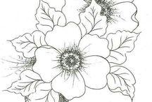 virág sablon