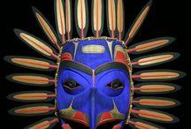 Mixed Media Tribal Masks