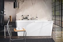 AXOR wash basins and bath tubs / Some Axor collections include wash basins and bath tubs, as well as high-quality mixers. There are built-in, counter-top and wall-mounted wash basin versions, and bath tubs that are free-standing or built in.