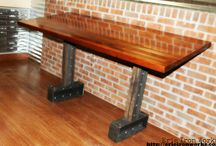 EIW Tables / Custom industrial furniture made by www.erieironworks.com