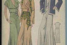 Fashion 1930's / Patterns I want to make