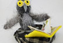 Cute animal ornaments / Cute knitted creatures to adorn your home and make you smile!
