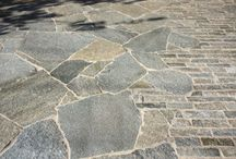 Materials Board - Peter Neenan / Some suggestions for materials for the paving, deck, walling and shed