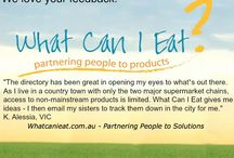 Feedback / We love hearing your feedback.  We love it so much for everyone who sends us some feedback on our referral site, we pop their names into a draw for some delicious prizes. Jump over to our site to give us your thoughts. http://whatcanieat.com.au/pa/click--win-competitions