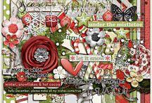 {Hello December} Digital Scrapbook Collection by Pixelily Designs