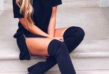 Black outfits.