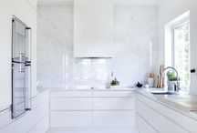 White and beige interior