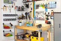 Garage storage and ideas / by Tracy B