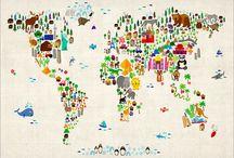 Carte du monde / Animaux