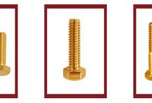 Brass Bolts / A Brass bolt is a form of threaded fastener with an external male thread made from Brass. Bolts are generally used as connectors with applications in various mechanical and electrical industries.  Bolts use a wide variety of head designs, as do screws. These are designed to engage with the tool used to tighten them. Some bolt heads instead lock the bolt in place, so that it does not move and a tool is only needed for the nut end.