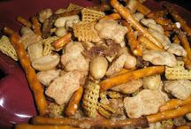 Chex Mix, Puppy Chow and Trail Mix Oh My..... / Various types of trail mix, puppy chow and crunch recipes / by Kathy McNutt