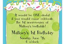1st Birthday Invitations / 0