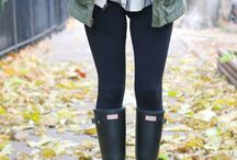 Rain Boot Outfit