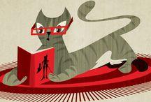Ratona de biblioteca.  / by Mae C. Prado D.-
