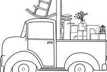 transport / desene de colorat